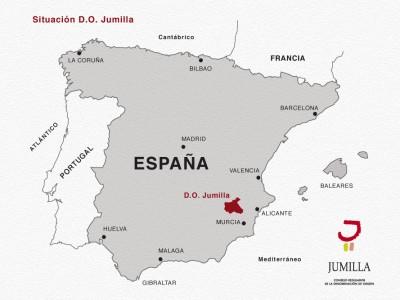 Situación de la D.O.P. Jumilla en España