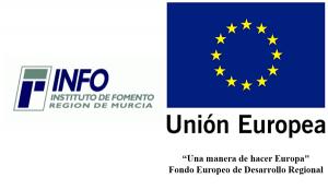 Logos INFO Murcia y Unión Europea