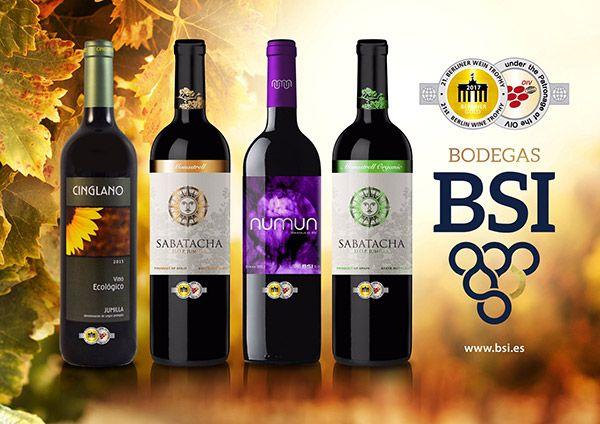 Medallas de Oro para BSI en el Berliner Wein Trophy 2017